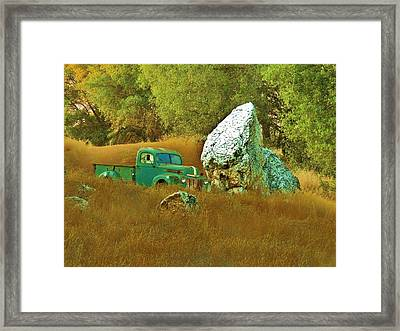 Daddy's Truck Framed Print by Helen Carson
