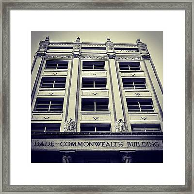 Dade Commonwealth Bldg. - Miami ( 1925 Framed Print