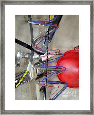 Dad's Garage Framed Print by Jackie Bodnar