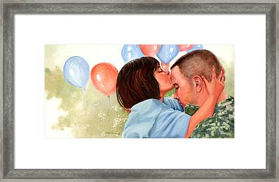 Dady This Is For Luck Framed Print by Wanta Davenport