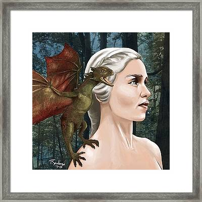 Daenerys Framed Print by Tony Santiago