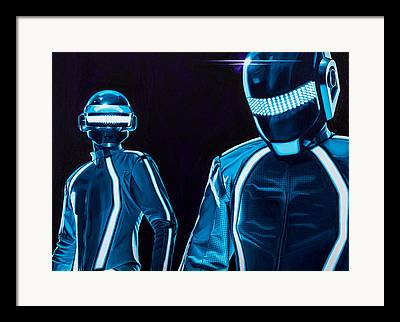 Daft Punk Paintings Framed Prints