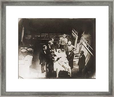 Daguerreotype Believed Framed Print by Everett