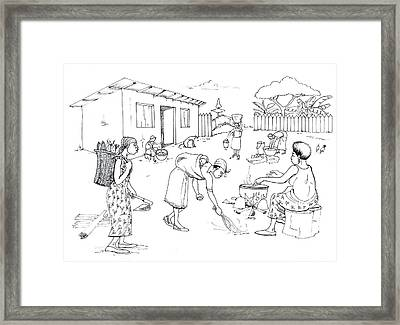 Daily Life In South And Center Cameroon 10 Framed Print by Emmanuel Baliyanga