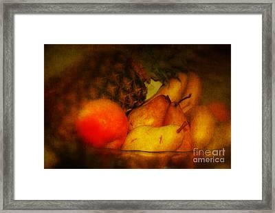 Daily Vitamins Framed Print by Susanne Van Hulst