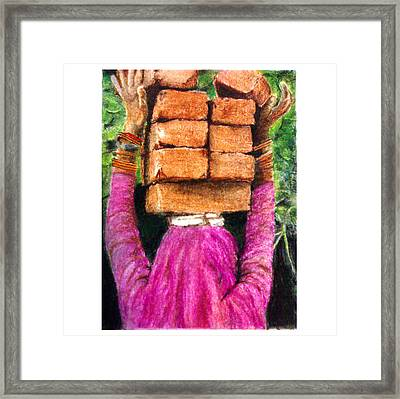 Daily Wage Framed Print