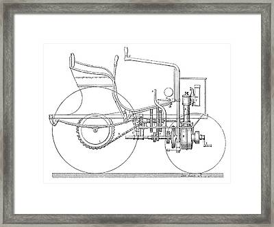 Daimler Automobile, 19th Century Framed Print by