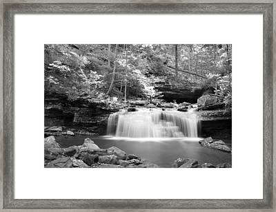 Dainty Waterfall Framed Print by David Troxel