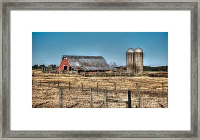 Dairy Barn Framed Print by Michael Thomas