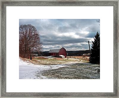 Dairy In The Hills Framed Print
