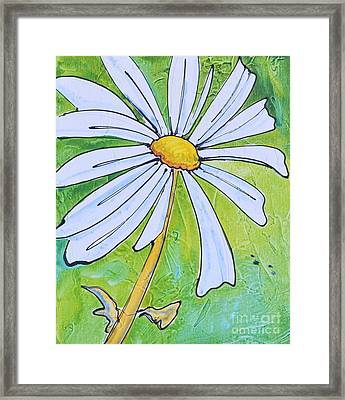 Daisy Face Framed Print