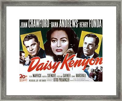 Daisy Kenyon, Dana Andrews, Joan Framed Print by Everett