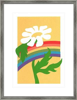 Daisy's Rainbow Framed Print