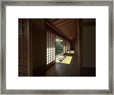 Daitoku-ji Zen Temple Veranda - Kyoto Japan Framed Print by Daniel Hagerman