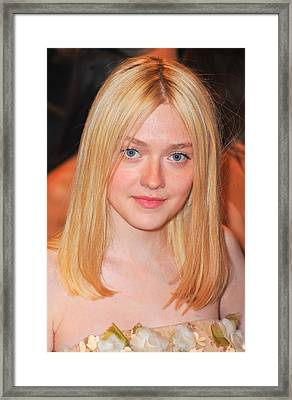 Dakota Fanning At Arrivals Framed Print by Everett