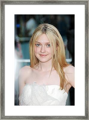 Dakota Fanning At Arrivals For The 2010 Framed Print by Everett
