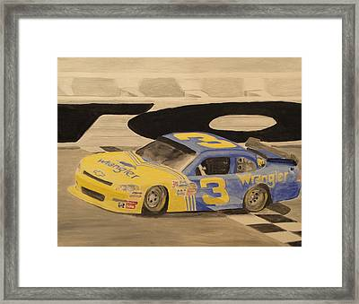 Dale Jr In The 3 Framed Print by James Lopez