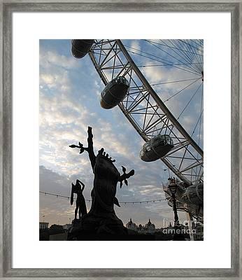 Dali And Eye Framed Print by Louise Peardon
