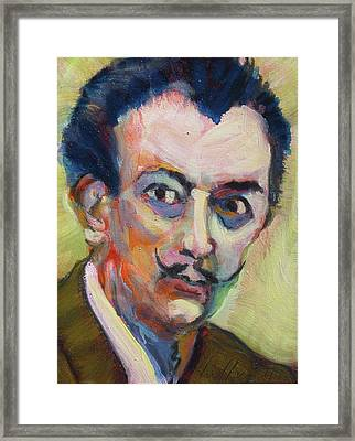 Framed Print featuring the painting Dali by Les Leffingwell