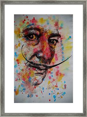 Framed Print featuring the painting Dali by Lynn Hughes