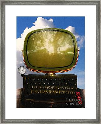 Dali.s Surreal Steampunk Personal Computer With Upgrades Framed Print by Wingsdomain Art and Photography