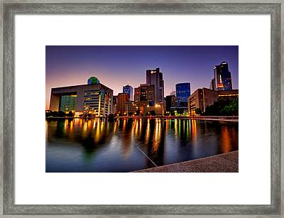 Dallas City Hall Plaza Framed Print