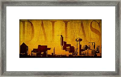 Dallas Framed Print by Ricky Barnard