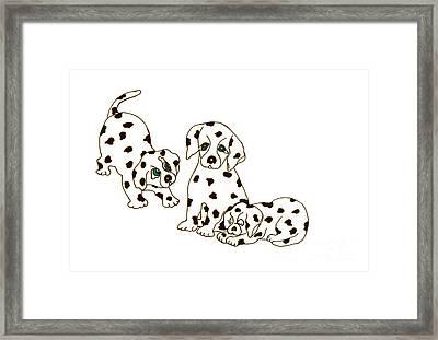 Dalmatian Puppies Framed Print