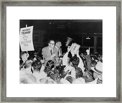 Dalton Trumbo 1905-1976 And John Howard Framed Print