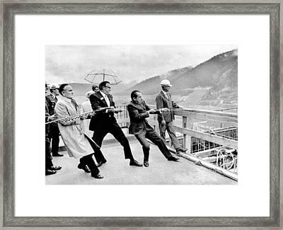 Dam Building Ceremony In Montana Framed Print