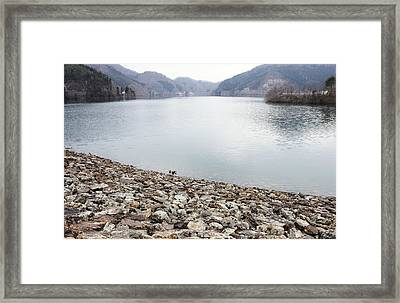 Dam Lake Framed Print by Sot