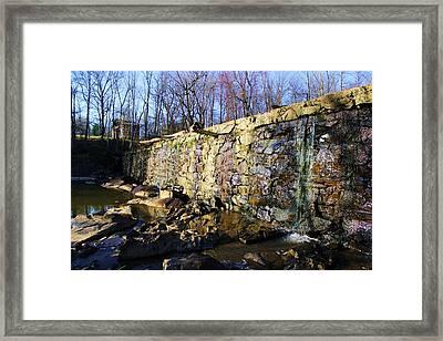 Dam On The River Haw Framed Print by Bob Whitt