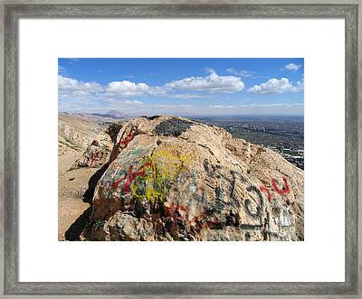 Damascus From Mount Qasion Framed Print by Issam Hajjar