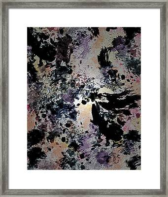 Damask Tapestry Framed Print