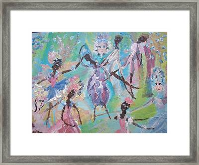 Dame Harmony Pantomime Framed Print by Judith Desrosiers