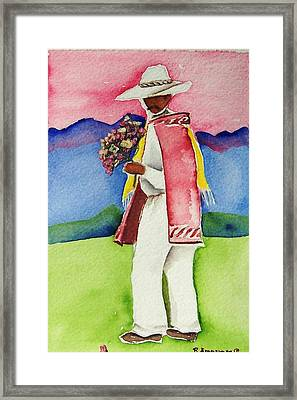 Damien Framed Print by Regina Ammerman