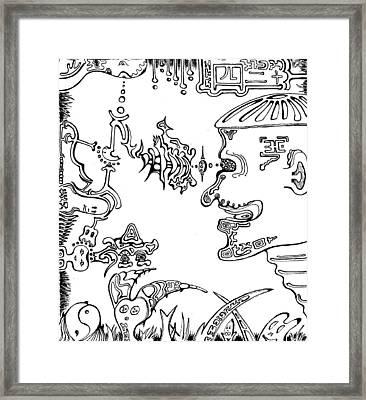 Damn Those Bastards Framed Print by Teej Slusher