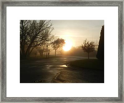 Damping Down Framed Print by Dennis Leatherman