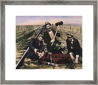 Damsel In Distress, 1913 Framed Print by Granger