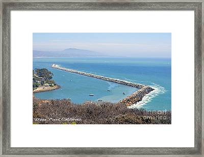 Framed Print featuring the photograph Dana Point California 9-1-12 by Clayton Bruster