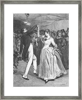 Dance, 19th Century Framed Print by Granger