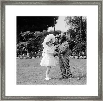 Dance! Bear! Dance! Framed Print by W G Phillips