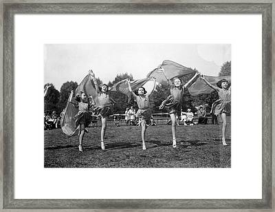 Dance Display Framed Print by Topical Press Agency