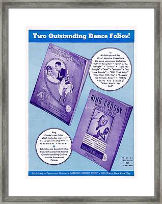 Dance Folio Ad Framed Print by Mel Thompson