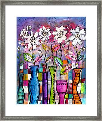 Dance Into The Light Framed Print by Robin Mead