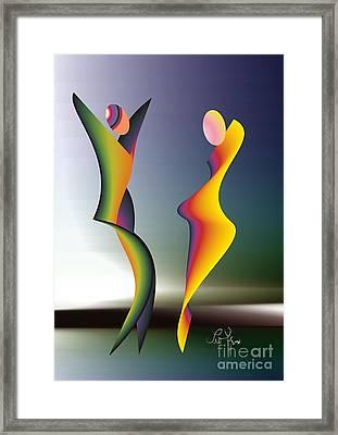 Framed Print featuring the digital art Dance 1 by Leo Symon