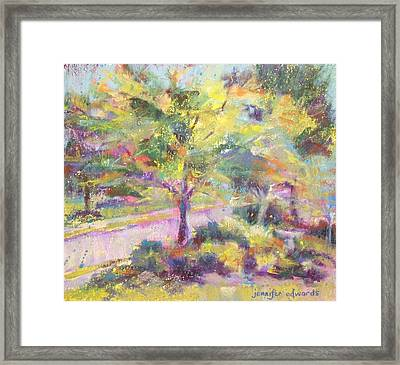 Dance Of Light Framed Print