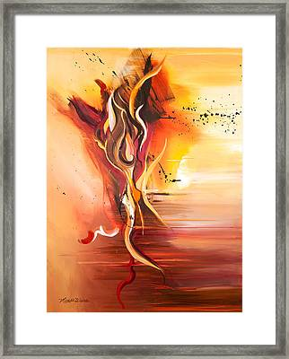 Dance Of Passion Framed Print by Michelle Wiarda