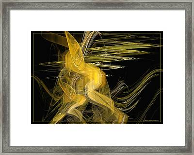 Dance Of Waves Framed Print by Sipo Liimatainen