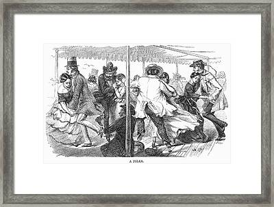 Dance: Polka, 1858 Framed Print by Granger